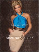 Free shipping  ladies fashion exquisite women's sleeveless strapless slim waist hip slim elegant one-piece dress 2949