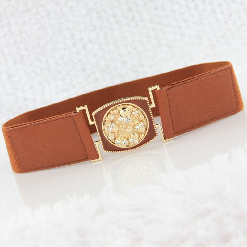 (Min order $10) The new skeleton diamond fashion down jacket belt(China (Mainland))