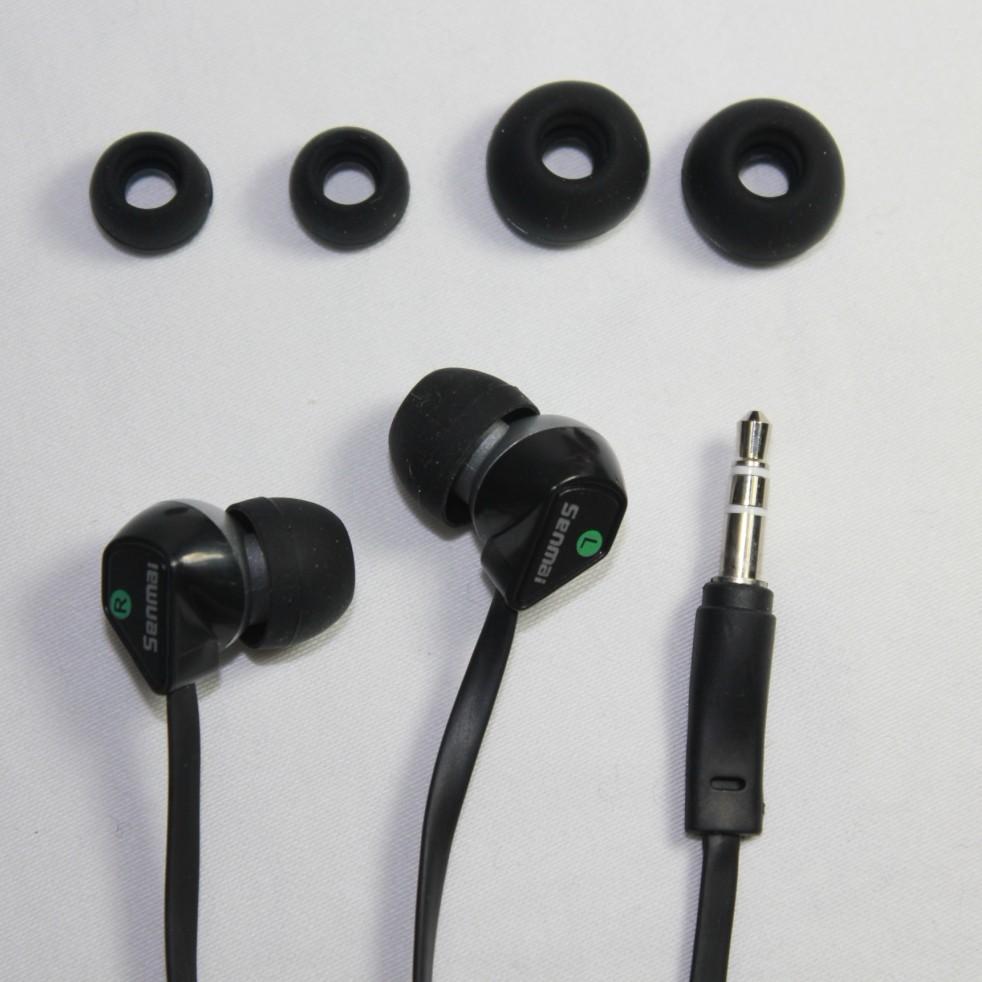 PROMOTION SENMAI SM - E1011 type stereo headset mobile phone/MP3 / computer heavy bass earplugs 50pcs/lot(China (Mainland))