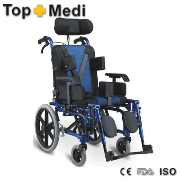 2014 novos estilo Crianças paralisia cerebral reclináveis cadeira de rodas de alumínio TOPMEDI FS958LBCGPY(China (Mainland))