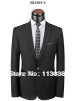 New Design Men High Quality Woolen Slim Coat Pant Set Suits Free Shipping