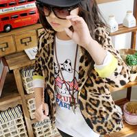 Kids Girls Slim Fit Casual Jackets Coat Suits Blazers Leopard Outwear 1-6Years  free&drop shipping
