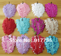 Free shipping 10*14CM 10pc/lot Mixed Colors Curled Flapper Feather Headband Girls' hair accessories