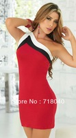 New fashion 2014 bandage dress sexy women dresses evening dress clubwear sexy lady red colour