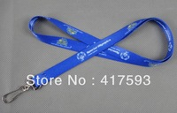 free shipping custom promotion dye sublimation blue lanyard with white logo imprint discount quality meeting lanyard straps