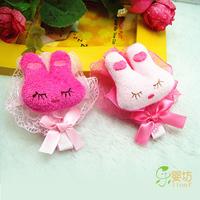 Cartoon rabbit child bow hairpin hair accessory hair accessory accessories side-knotted clip