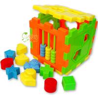 Plastic shape box intellectual box shape full
