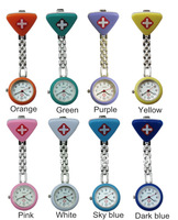 Free Shipping fashion Red Cross Nurse Watch, pocket watch,  9 Colors Available      10 pcs/lot