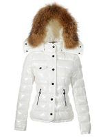 Ladies Coat Women's Down Coat Lady Short Jackets Winter Clothes Black White Coats Fur Collar Down Jacket Best Selling