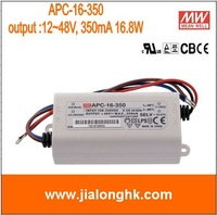 Free Shipping- # APC-16-350  meanwell 16.8W single output switching power supply output 12~48V 350mA  apc-16-350 APC16 -100% New