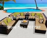 New!! 2014 13-Piece Outdoor Wicker Patio Furniture Sofa Set