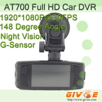 Novatek 1080P AT700 Car Camera Full HD With 2.7 Inch Screen + WDR Support + SOS Key + G-Sensor + Night Vision CPAM Free Shipping