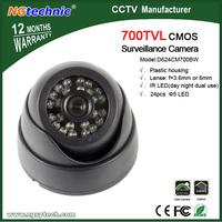 Free shipping! 1/4 CMOS 700TVL IR Dome CCTV Color Camera 24pcs IR LEDs Night Vision Surveillance Camera