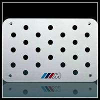 340x250x4mm  M-Power car interior floor mat, aluminum alloy non slip mat pedals, car foot pedals interior decoration