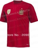 Free shipping spain 2014 world cup home soccer jerseys football jerseys top thailand 3A+++ quality soccer uniform