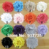 Free shipping 6.5cm Vintage Chiffon Flowers  50pcs/Lot  Chiffon Shabby Flowers For DIY Baby Girl's Hair Accessories Headband