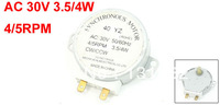 AC 30V 3.5W/4W 4/5RPM CW/CCW Microwave Oven Turntable Synchronous Motor