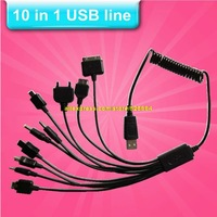 Hot stretch USB universal mobile charger 10 in 1 Efficient charging Multi mobile changer mobile phone charger