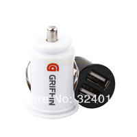 2pcs Mini Dual USB 2-Port Car Charger Adaptor for iPhone iPod iPad Samsung Phone