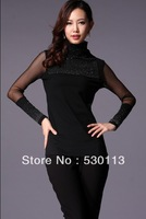 New 2013 Autumn and Winter Fashion women's clothing turtleneck stretch long sleeved bottoming Shirts European Hot Sale
