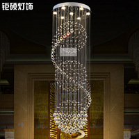 Free shipping Lighting lamps stair lamp pendant crystal lamp living room lights dining room pendant light modern brief  D50cm