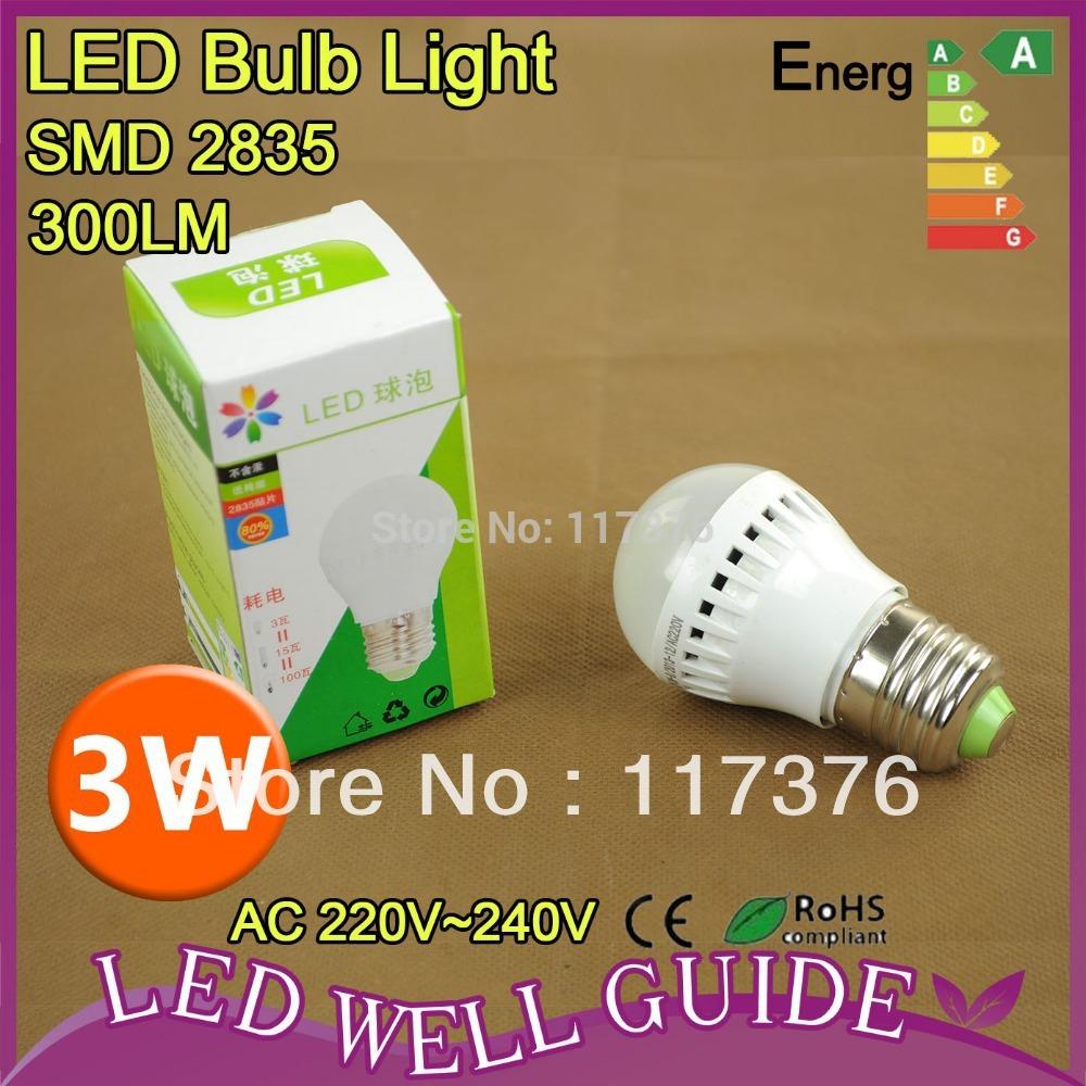 LED Bulb Lamp E27 3W High brightness 2835SMD AC220V-240V Inset Radiator&Driver 6pcs/lot, Cold white/warm white Free shipping(China (Mainland))