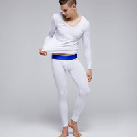 Looch low-waist male thermal underwear set autumn and winter thin commercial basic shirt long johns long johns set