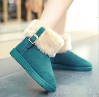 Retail winter shoes new arrival women's boots naked flat snow boots fashion warm boots adies shoes shoes for women 5size 4 color