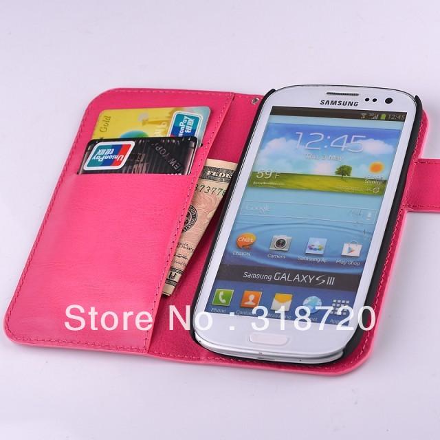 Чехол для для мобильных телефонов For Samsung I9300 Galaxy SIII S3 Fashion Crazy Horse pattern Hybrid Leather Wallet Flip Case Cover BH0216