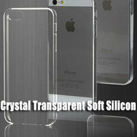 500pcs/lot Crystal Transparent Soft Silicon TPU Clear Cover Case for iPhone 5 5S Super Thin Original case FEDEX Free Shipping