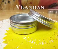 50Pcs/Lot 30ML 52*21mm Aluminum Cosmetic Box Cream Jar Wholesale Free Shipping