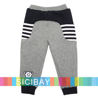 2014 Free Shipping New Baby Boys Pants Winter Elasticized Waist,Pockets Design Trousers K4272