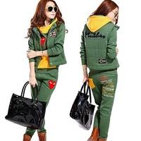 3pcs one set  Women Autumn & winter sweatshirt hoodie set, thickening Casual sports Hoodie hoody,panty,vest  Free shipping