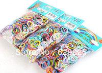 Wholesale - 2014 Hot Loom Kit,Rubber Loom Bands Kit Refill Pack 600pcs Mixed Color Bands+24pcs S-clips+1pcs Hook