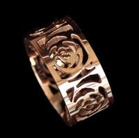 Free Shipping Mix Orderversion Type Yeh Titanium Rose Gold Cutout Elegant Camellia Ring Trendy Fashion Accessories
