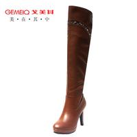 2013  winter elegant rhinestone platform brand high heels women boots gaotong