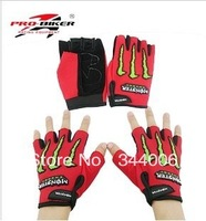 Freeshipping NEW MONSTER gloves ghost dog half gloves cycling gloves motorcycle gloves  100% Brand New