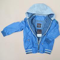 Catimi child male child rain silk double layer zipper two ways jacket outerwear trench