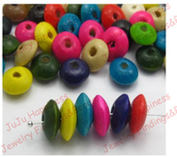 200pcs/lot Fashion 12*5mm Mix Color DIY Wood Abacus Beads Jewelry Finding Beads Free Shipping nb125