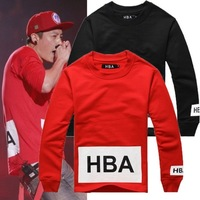 Men's T-Shirts 2014 Autumn new hood by air HBA 100% cotton long-sleeve T-shirt