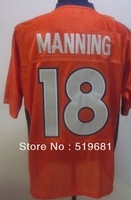 Free Shipping brand men throwback Elite Stitched  broncos MANNING #18 american football jersey,accapt drop shipping size:M-XXXL