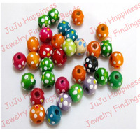 100pcs/lot Fashion 10mm Mix Color DIY Wood Round Big Hole Loose Beads Jewelry Finding Beads Free Shipping nb128