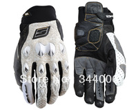 Free shipping 2013 latest FIVE summer often leather motorcycle racing gloves