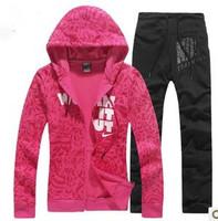 free shipping 2014 Brand women  Even the CAP Sport Suit .Leisure  Tracksuits Jacket+pants Sets 3 Colors