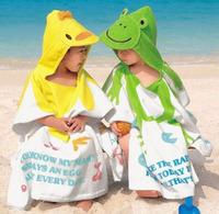 Cartoon baby bath towel hooded baby towel 100% newborn cotton bathrobe bathrobes beach towel 2311