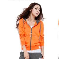 2013 women's cardigan sweatshirt hooded sports casual female set long-sleeve outerwear autumn