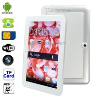 908 Silver, 9.0 inch Capacitive Touch Screen Android 4.2 Tablet PC with 3G Mobile Phone, CPU: MTK6572 Dual Core, 1.2GHz