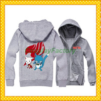 Free Shipping Fairy Tail Union Cosplay Cat Pullover Hoody Jacket LOL,0.6kg/pc