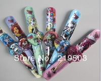 Hot selling free shipping 5pcs/lot Monster High Cartoon slap watch,children watch, best gift for kids,have in stock