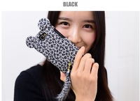 New Cute 3D Luxury Tiger Leopard with Soft Feather Tail Case Cover Skin For Samsung Galaxy Note 2 II N7100, 1 pcs Free Shipping
